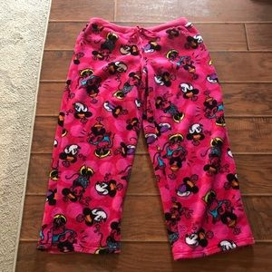 Disney Retro Minnie Mouse Fleece Pajama Pants L